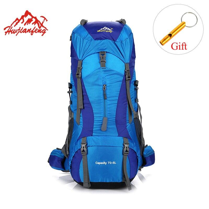 HU WAI JIAN FENG 75L Camping sac à dos hommes étanche en plein air sac voyage montagne sac de randonnée sac Sport Trekking sac à dos
