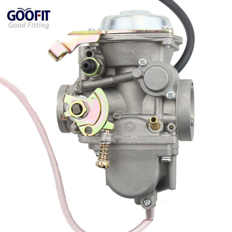 все цены на  Goofit 34mm Carburetor for Roketa ATV-11 JIANSHE JS400 Mountain Lion 400cc Polaris Ranger 500 ATV YAMABUGGY GO KART KF PD34J  онлайн