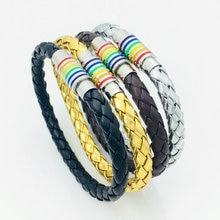 Multicolor immaculate Steel Magnet Buckle Transgender Bracelet