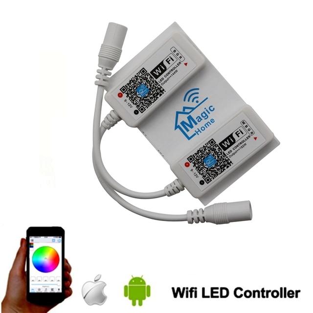 Magie Hause Mini RGB RGBW Wifi Controller Für Led Streifen Panel licht Timing Funktion 16 millionen farben Smartphone Steuerung