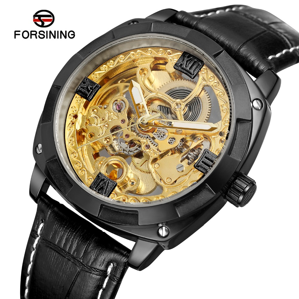 FORSINING Mens Fashion Casual Automatic Self-wind Skeleton Analogue Dial Business Watch with Genuine Leather Strap FSG8157M3FORSINING Mens Fashion Casual Automatic Self-wind Skeleton Analogue Dial Business Watch with Genuine Leather Strap FSG8157M3
