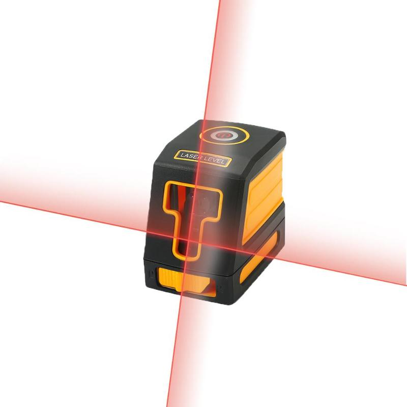Mini Laser Level 2 Red/Green Cross Line Laser Level with Bracket IP54 Horizontal&Vertical Diagnostic Tools Leveling Instrument