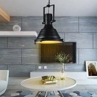 Nave Industrial Luces Colgantes Lámparas de Iluminación de La Vendimia País de América para Restaurante/Dormitorio Decoración Del Hogar Negro