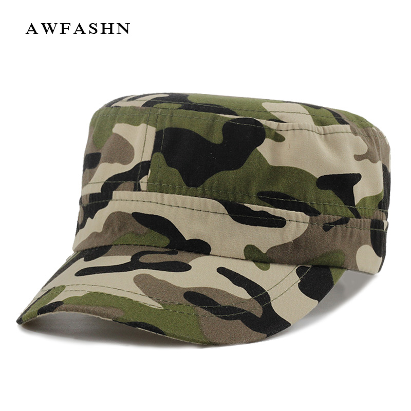 9a7d1cbd799 Detail Feedback Questions about New camouflage military cap high quality  flat hats man woman vintage camo army trucker solid dad hat men s caps bone  cotton ...