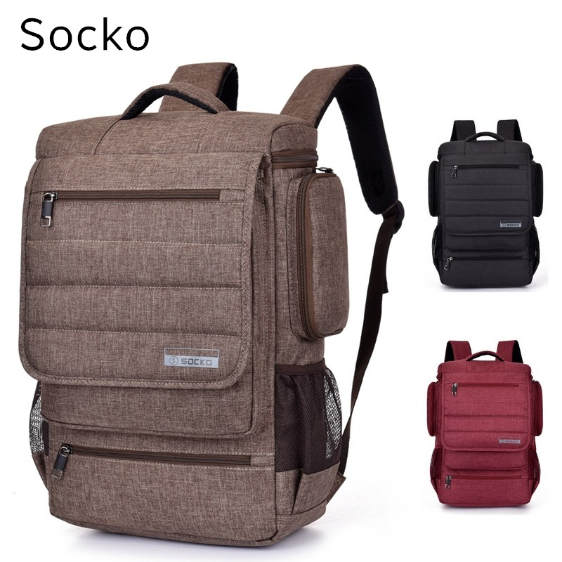 Socko Brand Backpack For Laptop 15,15.4, 15.6, Notebook 15 inch Shoulder Bag, Packsack,Travel School Bag, Free Shipping 900w fruit mixer machine vegetable superfood blender processor juicer extractor free shipping