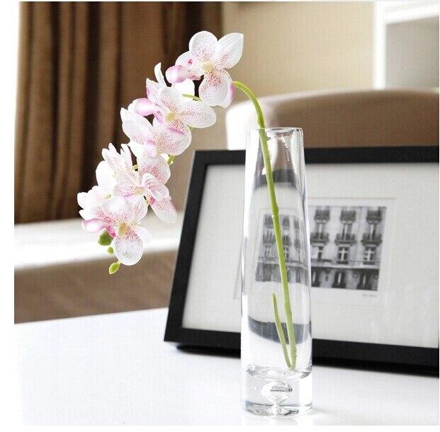 100 шт. фаленопсис шелк маленький цветок орхидеи искусственные цветы Свадебная вечеринка поддельные цветок - Цвет: 100pcs Pink