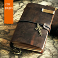 new vintage grazy horse handmade leather notebook gift Traveller passport cover passport bag crazy horse leather