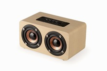 hot deal buy wireless bluetooth speaker wood portable audio hifi home theatre sound receiver stereo music subwoofer computer speakers