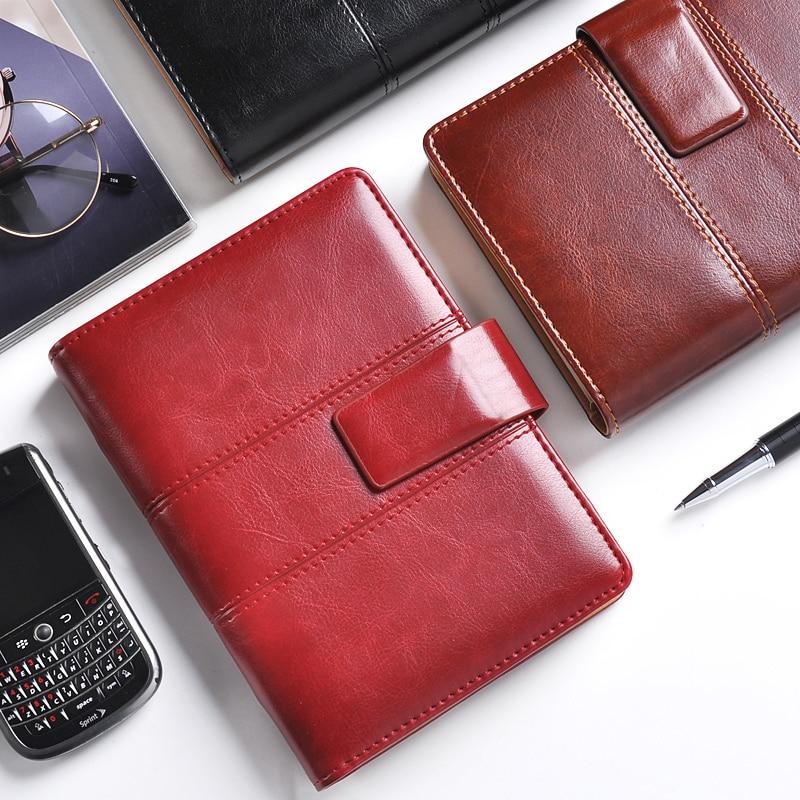 Cuaderno espiral cagie planificador A5 diario vintage cuero Carpetas de anillas 2018 Oficina agenda filofax A6 cuaderno viajero Cuadernos