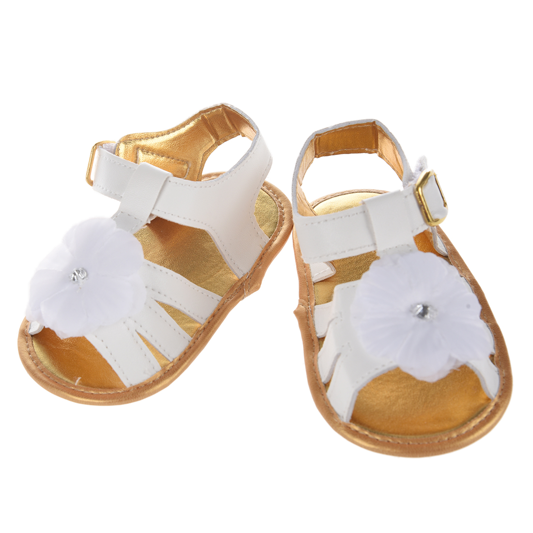 KEOL Best Sale New Baby Girl Floral Summer Sandals Crib Soft Sole Non-slip Princess Shoe ...