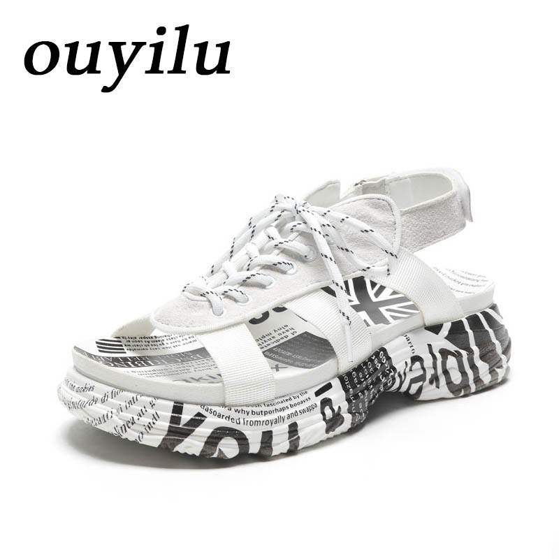 2018 ouyilu Man Woman Brand Sport Shoes For Women Beach shoes Outdoor Sandals Women Antiskid and wear-resistant Genuine Leather ouyilu 2018 crocs shoes outdoor sandals beach shoes sneakers women comfortably breathable woman brand sport shoes womens 35 39