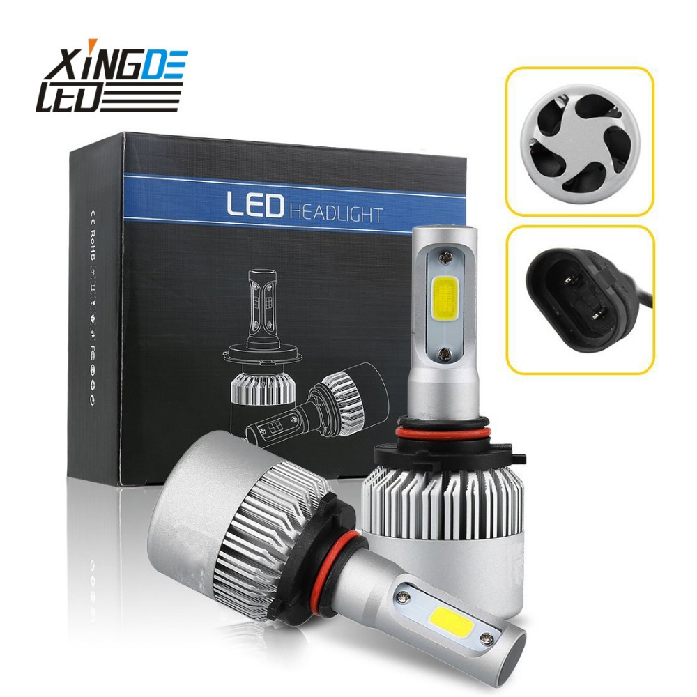 Auto LED Phare H13 9012 H7 H4 H8/H11 LED HB3/9005 HB4/9006 H1 H3 6000 k Voiture Head Light Ampoule