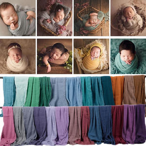 Newborn Photography Blanket Swaddle Cloth-Accessories Stretch Baby Infant Cotton 180--40cm