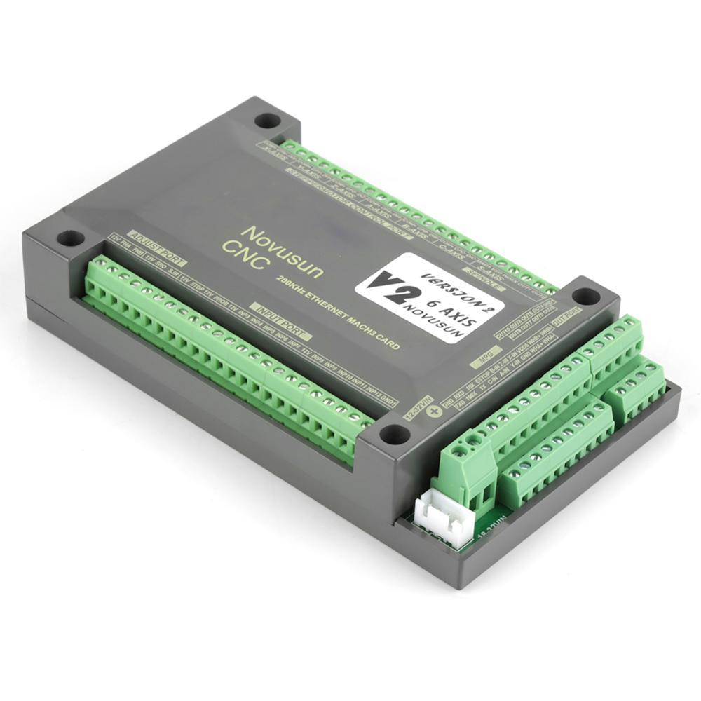 Pour MACH3 Interface Ethernet 1 pièces NVEM CNC Contrôleur 6 Axes MACH3 Interface Ethernet Carte De Contrôle De Mouvement Conseil