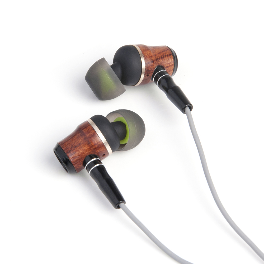 2018 New Zermie X10 Dynamic In Ear Earphone Wooden DIY HiFi Heavy Bass Pure Wood Headset With Mic Free Shipping