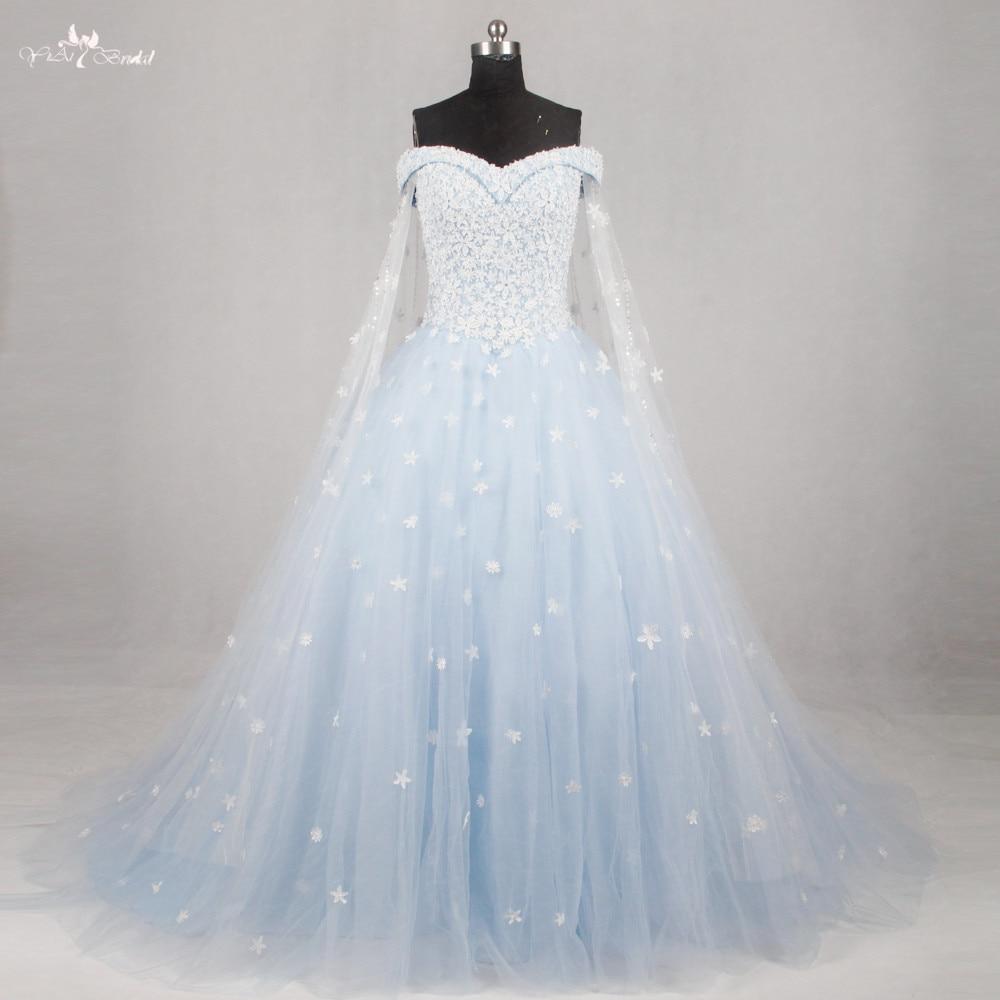 Medium Crop Of Blue Wedding Dress