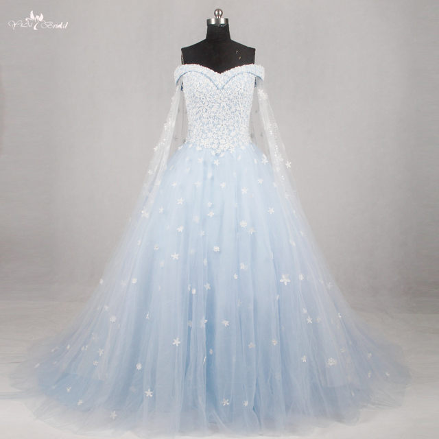 Baby Blue Wedding Gowns