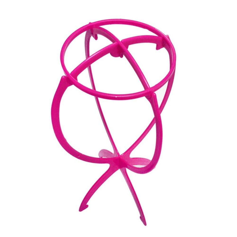 Прочный Пластик Для женщин Регулируемый парик Стенд складной парик держатель стойки для укладки сушки Дисплей практические Дизайн