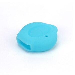 Image 3 - PREISEI 실리콘 키 커버 푸조 자동차 206 원격 키 수호자 가방 오렌지 블랙 레드 블루 그린 그레이 색상