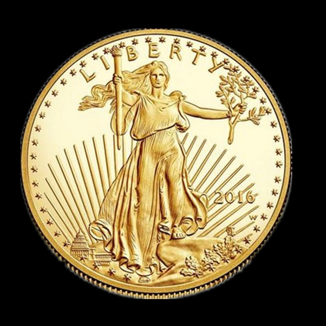 2016 1oz Fine Gold 50 Dollars Liberty Coin Double Eagle
