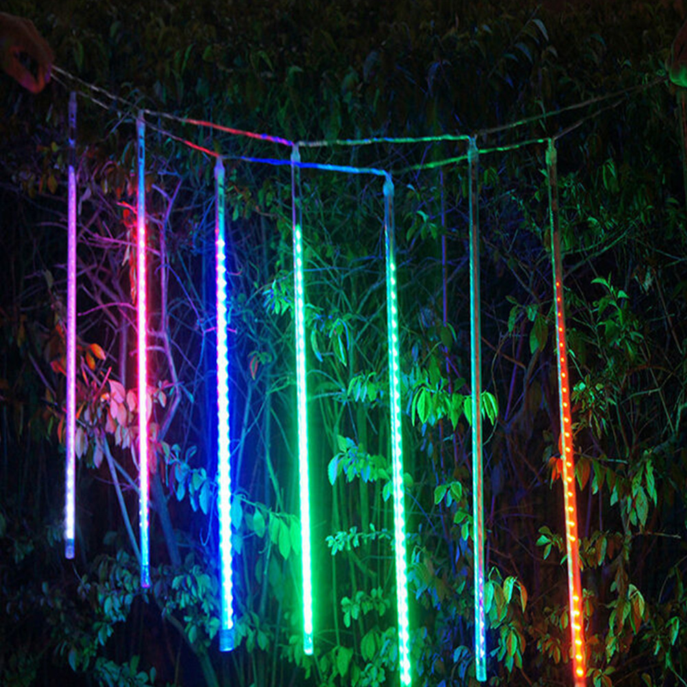 TSLEEN Multi-color 30CM Meteor Shower Rain Tubes AC 110-240V Christmas String Light Garden Wedding Party Holiday Tree Decor