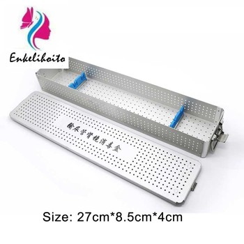 Sterilising trays aluminium alloy Cosmetic surgery instruments Disinfection box for ophthalmic instruments