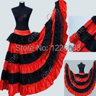 Новый Для женщин Дамы Скидка черный, красный юбка длинные Танцы Костюмы для фламенко живота длинные Костюмы для бальных танцев танцевальная Юбки для женщин