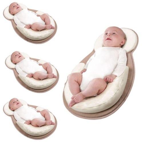 Infant Newborn Baby Pillow Cushion Prevent Flat Head Sleep Nest Mattress Soft UK