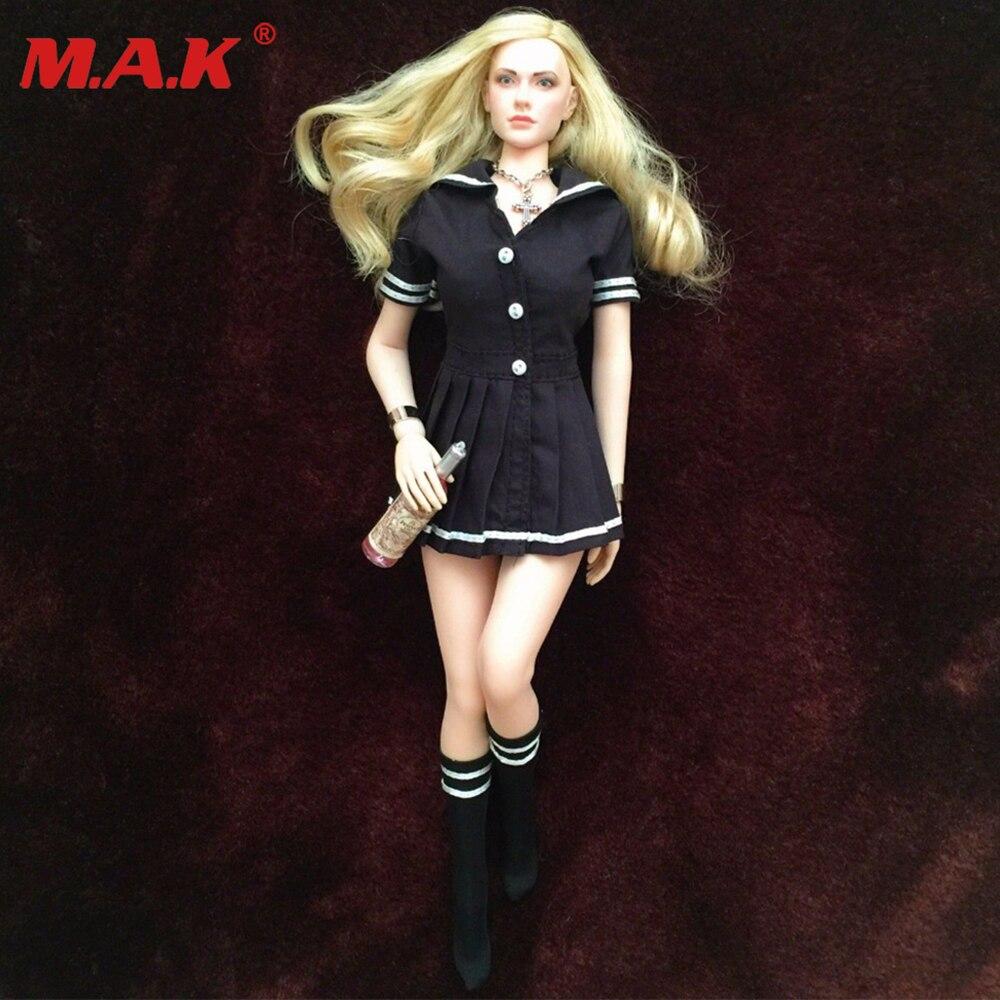 1/6 échelle femme fille sexy dame robe ensemble chemise et plaid jupe unité costume pour les étudiantes 12 pouces UD PH corps figures