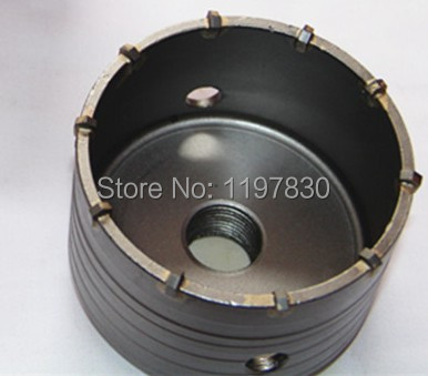 Free shipping 1PC carbide tipped wall hole saw 110*72*M22 strengthened electric Hammer hole saw for wall 60mm tungsten carbide tipped stainless