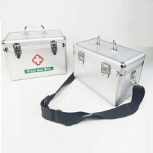 Drug Storage Box Aluminum Alloy Metal Box No Shoulder Strap Home First Aid Kit M