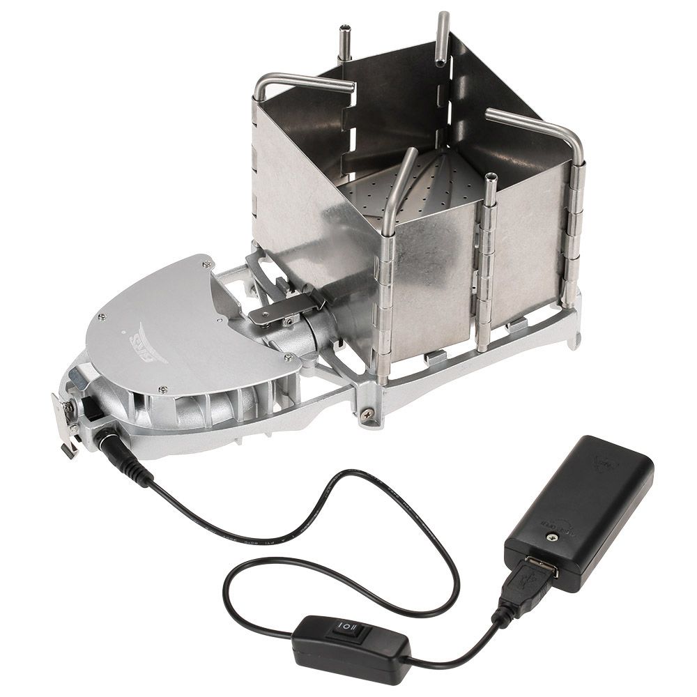 BRS Portable Palm sized Camping Outdoor Wood burning Stove Charcoal Burner BBQ Furnace Electronic Blower Stove