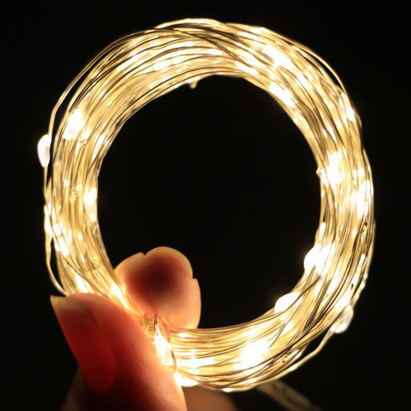 New 2M 5M 10M LED String Lights Garland Waterproof Fairy Lights Lamp For Christmas Wedding Party Light Decoration