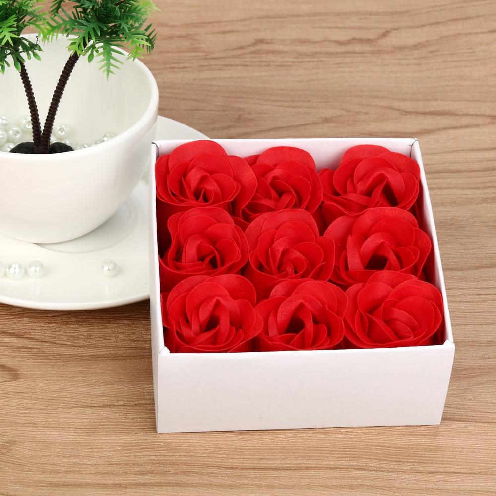 1Set Rose Flower Soap Petal Bath Body Soap Christmas Gift Party Wedding Festival Decoration Gift ...