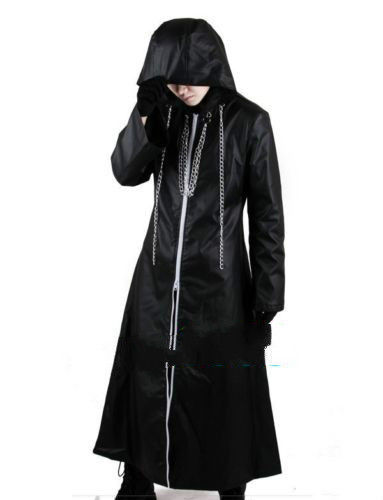 Kingdom Hearts 2 Organization XIII Pleather Cosplay Costume Free Shipping