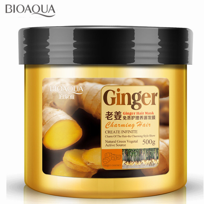 Steam-Free Nutrition Ginger Hair Mask Baked Ointment For Frizz Dry Damaged Hair Repair Soft Conditioner Hair Treatment 500ML image