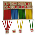 Frete grátis! Brinquedo do bebê blocos de madeira Montessori brinquedos educativos inteligência matemática blocos de construção vara presente