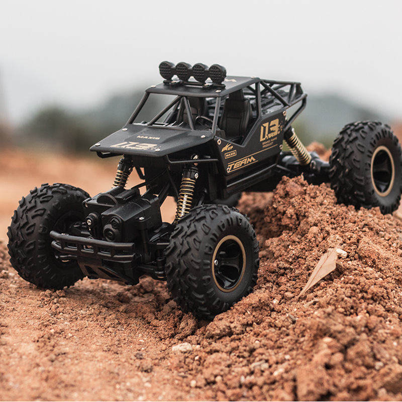 Ewellsold New 1/16 Aluminum Alloy Car Shell Remove Controlled Rock Crawler R/C Buggy Car Model RC Trucks For Kids