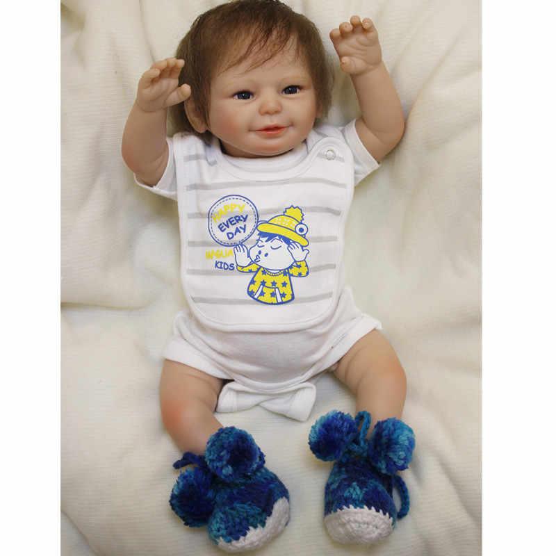 Новинка 2017 года 20 дюймов Кукла реборн младенцев мягкие силиконовые Bebe Reborn Дети Рост партнеры Реалистичного маленьких Куклы рождения Reborn