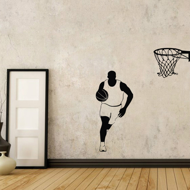 Basketball Wall Stickers Home Decor Living Room Sports Wall Decals Vinyl  Art Stickers For Kids Rooms