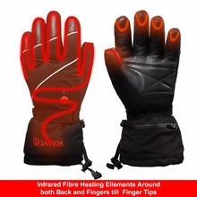 Fingers and Back of Hand Heating 7.4V 2200MAH Electric Heat Gloves,Waterproof Outdoor Ski Sport Lithium Battery Self Heating 3 7v 2000mah electric heating gloves outdoor sport ski lithium battery self heated gloves warm 3 hours boys