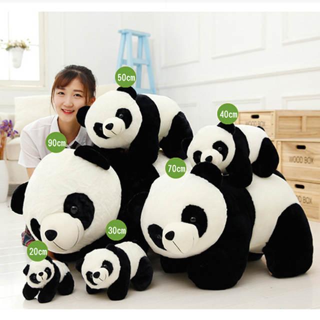 Online Shop Cute Baby Big Giant Panda Bear Plush Stuffed Animal Doll