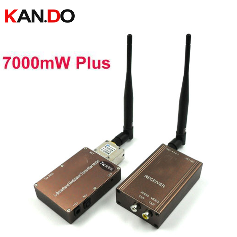 7W + beeldoverdracht Draadloze transceiver 1.3G Video Audio Zender Ontvanger 1300mhz FPV zender 1.3G drone zender-in Transmissie van Consumentenelektronica op  Groep 1