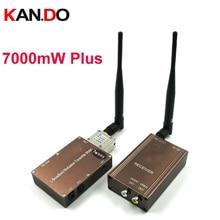 Made in Tw 7 Watt + 1,3G Wireless-transceiver 1,3G Video Audio Transmitter Receiver 1300 mhz FPV sender 1,3G drone sender