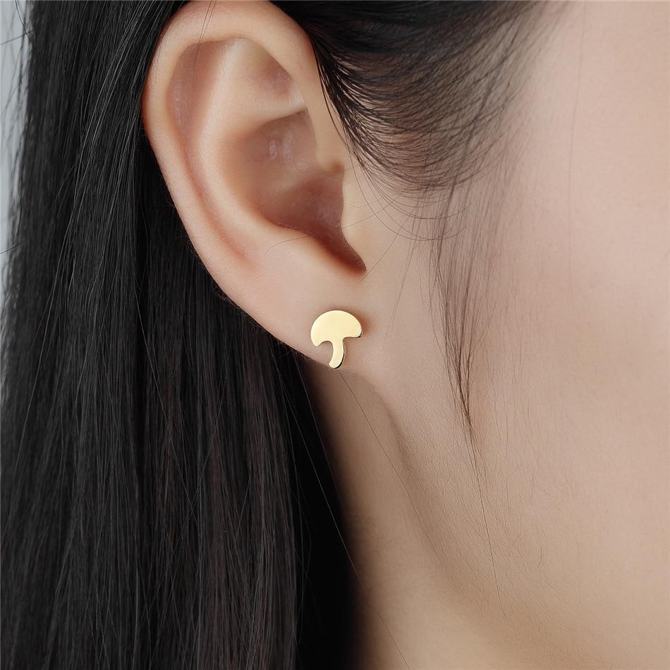 be18121f1 FGifter Fashion Brincos 2018 Girls Earing Bijoux Gold Small Mushroom Stud  Earrings For Girl Women Jewelry Earings Wholesale-in Stud Earrings from  Jewelry ...