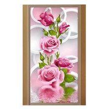 5D DIY Diamond Mosaic Rose Flowers Diamond Painting Cross Stitch Round Rhinestone Mosaic Unfinished Home Decoration Gift