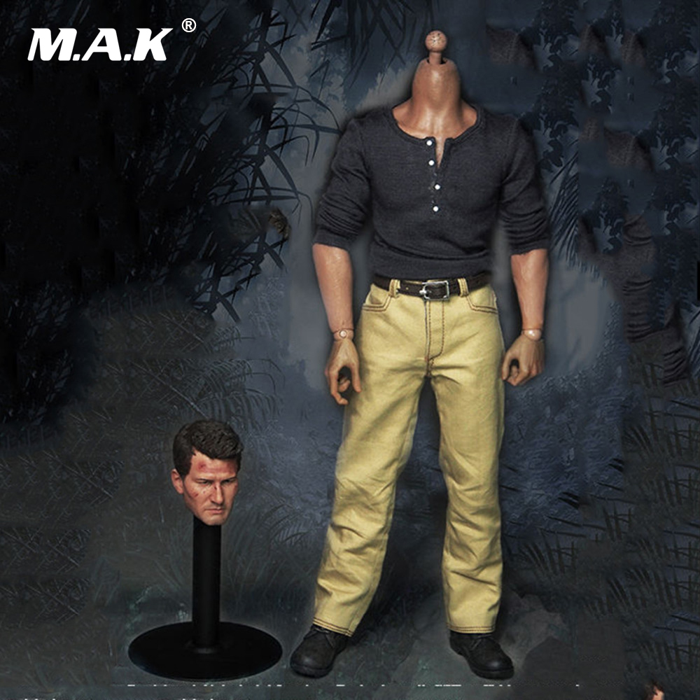 New 1/6 Scale the Adventurer Virtual Male Head Sculpts W Clothes Model Toys For 12