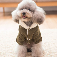 Dog Warm Jacket Coat Autumn Winter Pet Clothes Fleece Garment Outfit Puppy Costume Apparel Small Dogs Cat Clothing FP8