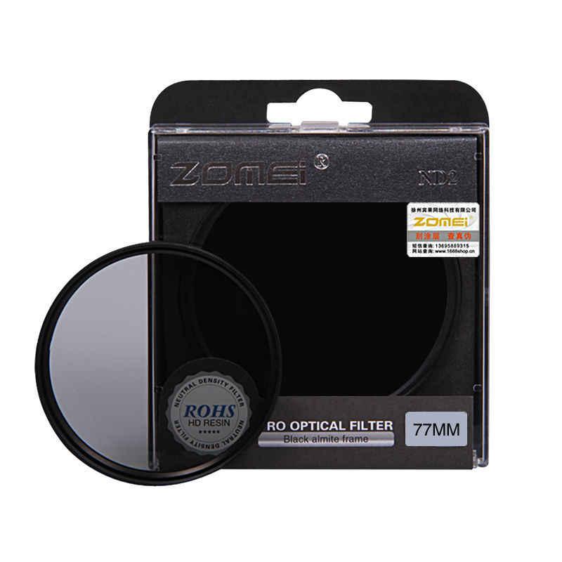 Zomei Nötr Yoğunluk filtre lens Kiti ND ND2 + ND4 + ND8 52mm 58mm 62mm 67mm 77mm 82mm Canon Nikon Sony kamera için lens