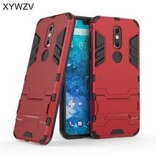 For Cover Nokia 7.1 2018 Case Armor Rubber Hard Back Phone Shell Fundas